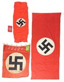 LOT OF 4: THIRD REICH POLITICAL FLAGS.