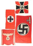 LOT OF 4: THIRD REICH FLAGS.