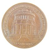 ADOLF HITLER'S CENTENNIAL MEDAL FOR THE 100TH YEAR OF THE KELHEIM LIBERATION HALL, WITH PROVENANCE.