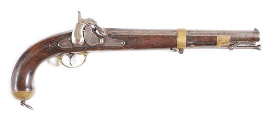 (A) SPRINGFIELD US MARTIAL MODEL 1855 SINGLE SHOT PISTOL CARBINE.