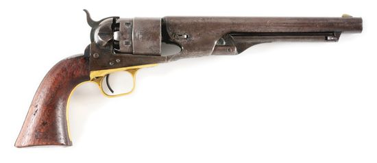 (A) MARTIALLY MARKED US COLT MODEL 1860 ARMY PERCUSSION REVOLVER.