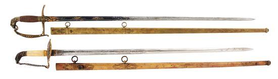 LOT OF 2: EAGLE HEAD SWORDS.