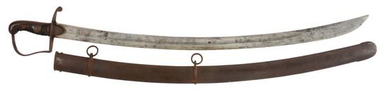 SCARCE IMPORTED CAVALRY SABER RETAILER MARKED TO WOLFE OF NEW YORK, WITH SCABBARD.
