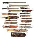 LOT OF 10: US WORLD WAR II KNIVES AND BAYONETS.