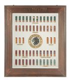 INCREDIBLY RARE FRAMED KYNOCH SHOTSHELL DISPLAY MIRROR.