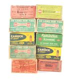 LOT OF 10 BOXES OF AMMUNITION.