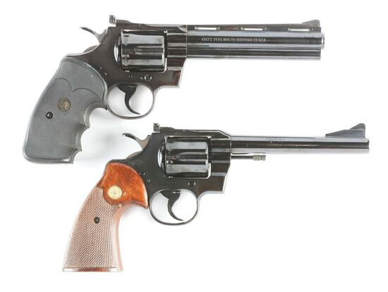 (C) LOT OF TWO: COLT PYTHON AND COLT TROOPER DOUBLE ACTION REVOLVERS.