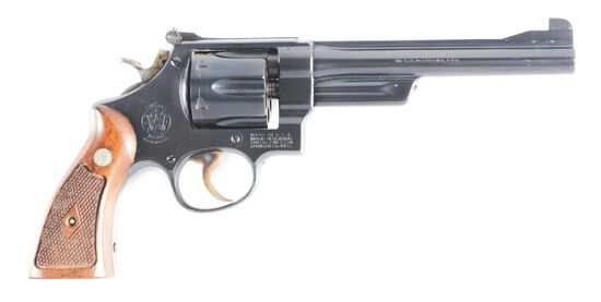 (C) HIGH CONDITION SMITH & WESSON 38/44 OUTDOORSMAN REVOLVER.
