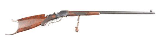 (C) WINCHESTER 1885 HIGH WALL TAKEDOWN SCHUETZEN SINGLE SHOT RIFLE.