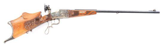 (C) GERMAN SCHUETZEN SINGLE SHOT TARGET RIFLE MARKED OTTO ZEITLINGER CUSTOM CRAFTED IN 8.15X54R WITH