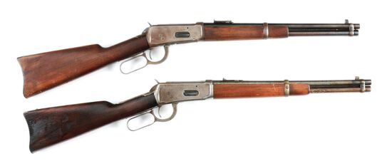 (C) LOT OF TWO: TWO WINCHESTER 94 TRAPPER LEVER ACTION RIFLES.
