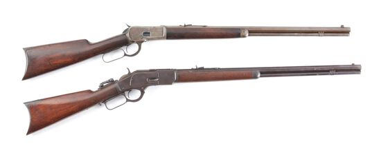 (C) LOT OF TWO: WINCHESTER 1892 .25-20 LEVER ACTION RIFLE AND WINCHESTER 1873 .32-20 LEVER ACTION RI