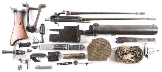 VERY NICE & NEARLY COMPLETE MAXIM MG 08/15 MACHINE GUN PARTS KIT WITH DESIRABLE ASSORTMENT OF ADDITI