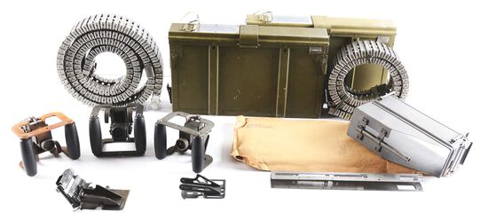 VALUABLE U.S. M60 MACHINE GUN PARTS WITH HELICOPTER MOUNTING EQUIPEMENT FOR MOUNTING THE M60 MACHINE