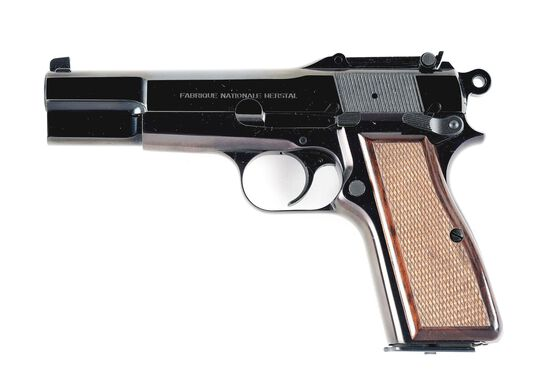 (M) BELGIAN MADE BROWNING CAPITAN SEMI AUTOMATIC PISTOL WITH CASE.