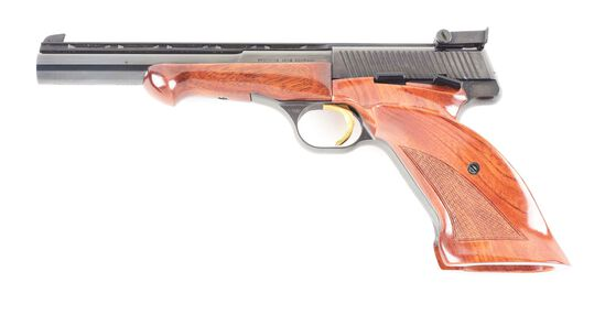 (C) CASED BROWNING MEDALIST SEMI AUTOMATIC PISTOL.