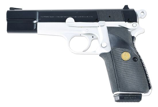 (M) BROWNING HI-POWER SEMI AUTOMATIC PISTOL WITH CASE.