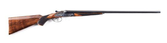 (M) CASED ARRIETA MODEL 570 16 BORE SIDE BY SIDE SHOTGUN.