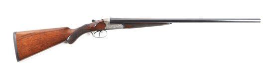(C) CASED E. M. REILLY & CO. SCALLOPED ACTION BOXLOCK 12 BORE SXS SHOTGUN.