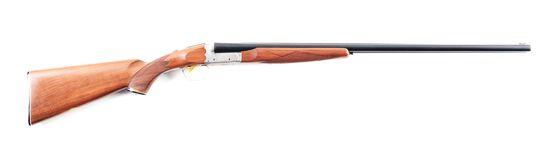 (M) CASED ITHACA SKB MODEL 200E 20 GAUGE SIDE BY SIDE SHOTGUN.