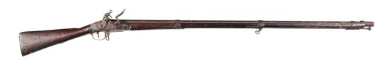 """(A) """"AS FOUND"""" 1807 DATED VIRGINIA MANUFACTORY FIRST MODEL FLINTLOCK MUSKET."""