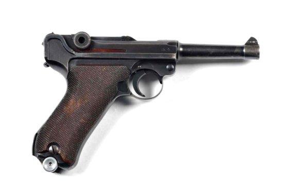 **Code 42 German Luger Semi-Automatic Pistol.