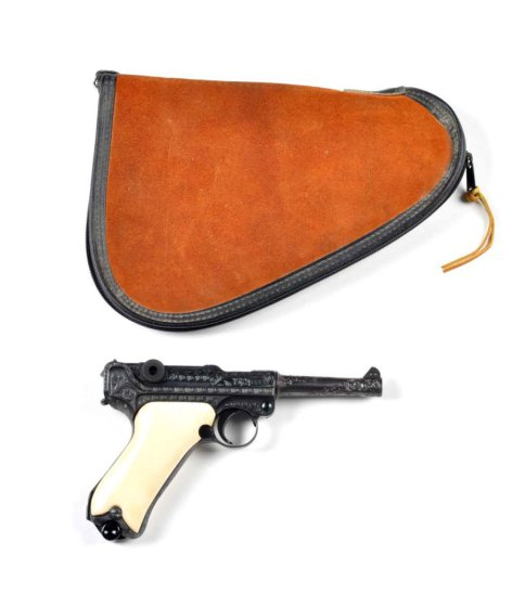 **Custom Engraved DWM 1915 Luger Pistol.