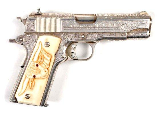**Colt Engraved L.W. Commander (D.W. Harris).