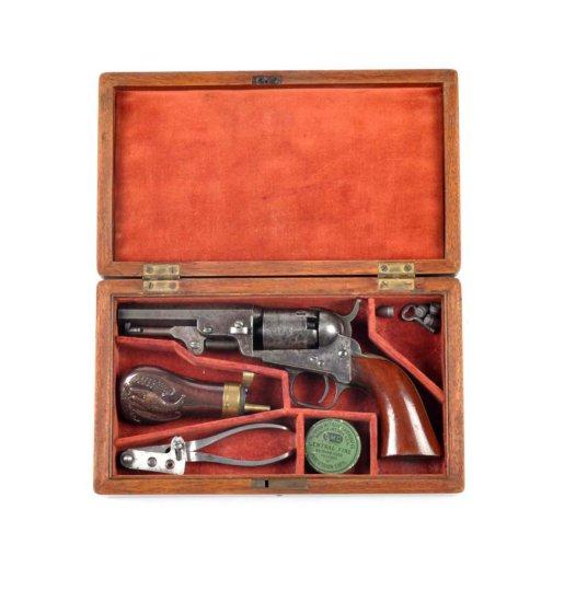 Cased Colt Model 1849 Pocket Revolver.