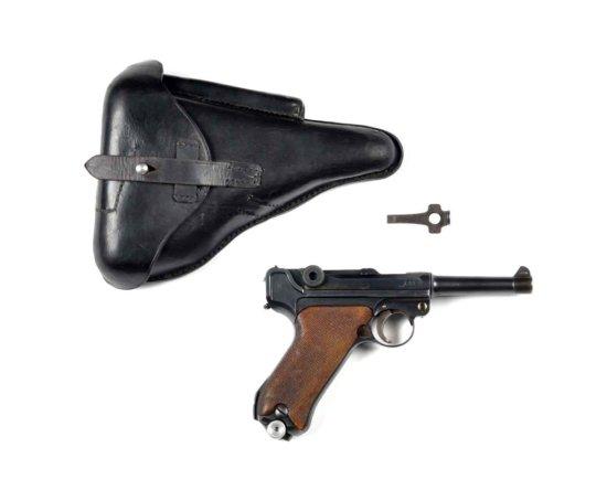 **DWM Double Date German Luger Semi-Auto Pistol.