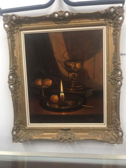 Original Oil on Canvas - Framed Signed A.V.D. Poorter