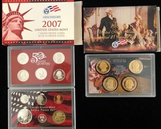 2007 Mint Silver Proof Set & US Mint Presidential $1 Coin Proof Set