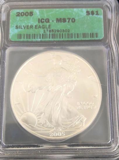 2005 Silver Eagle $1