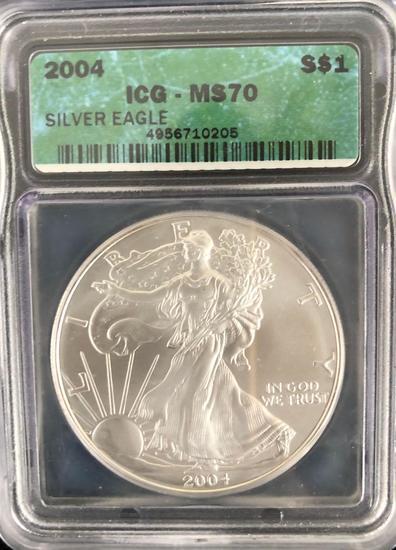 2004 Silver Eagle $1