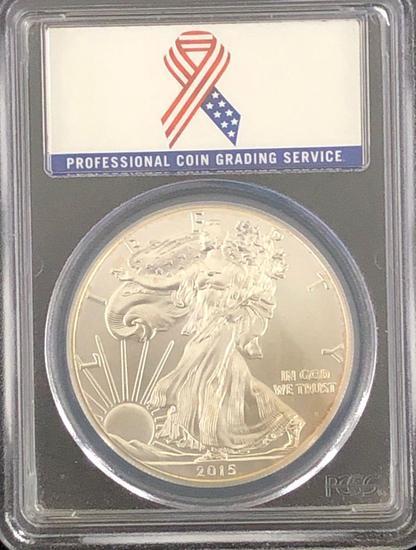 2015 Silver Eagle $1