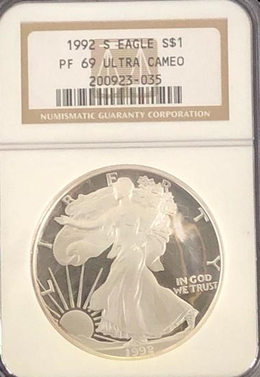 1992 Silver Eagle $1