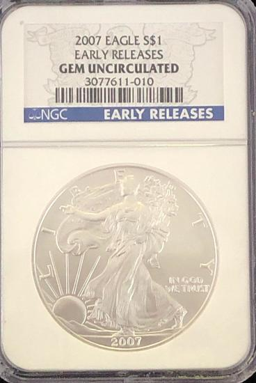 2007 Silver Eagle $1 Early Releases