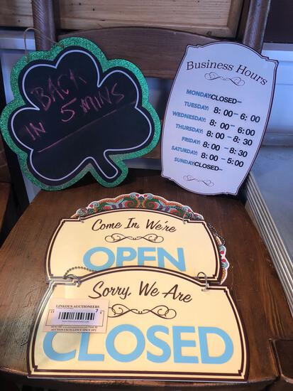 Lot of 4 Business Signs