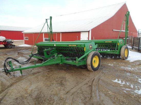 2 John Deere 450 12 Ft Grain Drills Hyd Tandem Hitch