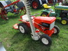 Simplicity garden tractor w/sickle mower, grading blade, front blade, running