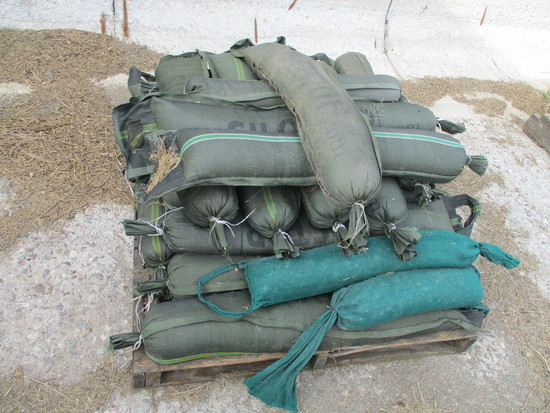 25 Sand bags used for bunker cover weights