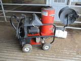 Alkota 420X4 elect hot water pressure washer on cart, 2,800 PSI, New motor & pump, rebuilt