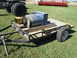 Winco Model 75FPTOC-17-3, 75,000 watt, 3 phase, generator on trailer