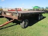 8' x 20' Heavy duty bale trailer, steel floor, Meyer 12 ton tandem running gear