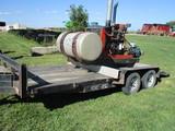 Cornell 4514-EM18DBK booster pump w/Case IH engine, fuel tank, mounted on Road Boss tandem axle