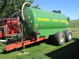 2007 Balzer 3350 Magnum tandem manure tank, vacuum, rear man hole cover for clean out, Second Owner