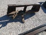 Skid loader receiver hitch