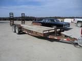 2013 PJ 20 Ft. tandem ax. trailer, ramps