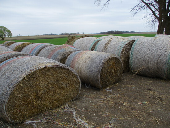 13 2020 Round bales of grass hay, SEELS 13 X $