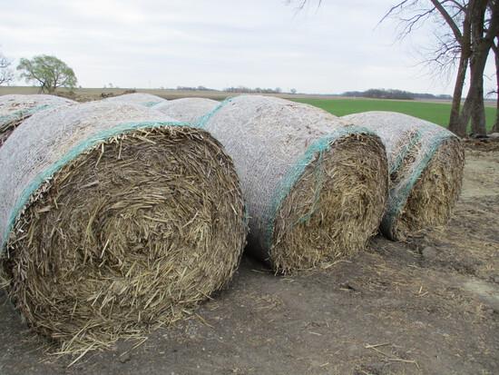 7 Round bales of corn stalk bales, SELLS 7 X $